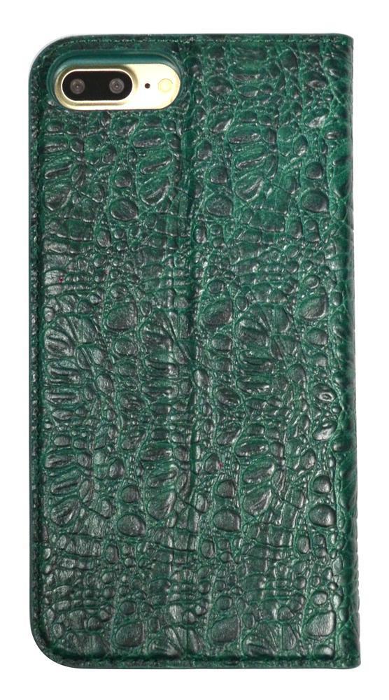 Green Fierre Shann Crocodile Genuine Cow Leather Wallet iPhone 7 PLUS Case