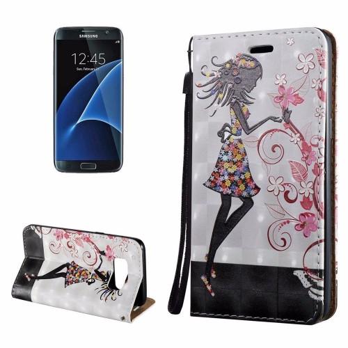 3D Flower Fairy Flip Leather Samsung Galaxy S8 PLUS Case