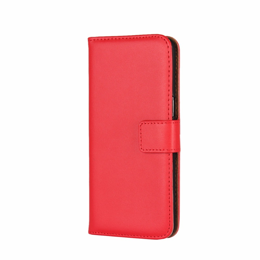 Red Slim Leather Wallet Samsung Galaxy S8 PLUS Case