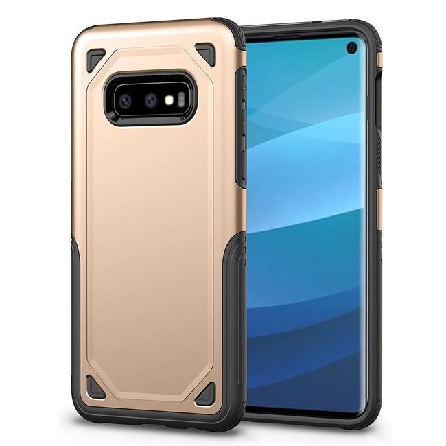 Samsung Galaxy S10e Case Gold Armour TPU & PC Back Shell with Shock Protection & Antiscratch Material