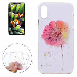 Aquacoloured Flower Grippy iPhone 8 Case