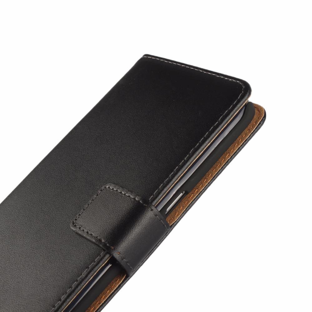 Black Slim Leather Wallet Case