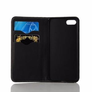Black Actuation Genuine Leather Wallet iPhone 7 PLUS Case