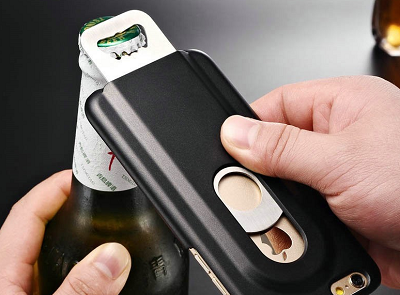 Black Bottle Opener iPhone 6 & 6S Case