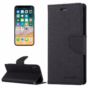 Black Cross Texture Flip Leather Wallet iPhone 8 Case