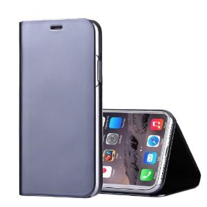 Black Electroplating Mirror Flip Leather iPhone X Case