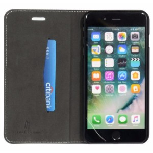 Black Fierre Shann Buckle Leather Wallet iPhone 7 PLUS Case