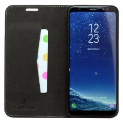 Black Fierre Shann Crocodile Genuine Cow Leather Wallet Samsung Galaxy S8 PLUS Case
