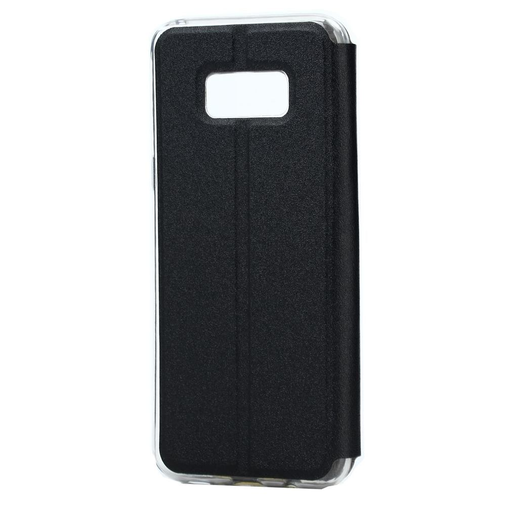 Black Frosted Caller ID Display Leather Samsung Galaxy S8 Case