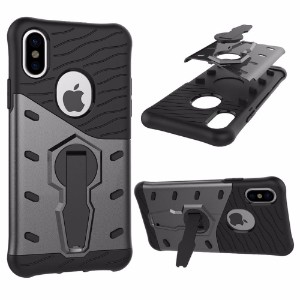 Black Hybrid Armor iPhone 8 Case