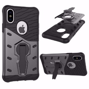 Black Hybrid Armor iPhone X Case
