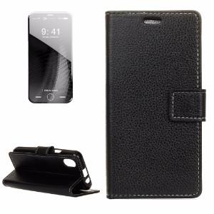 Black Litchi Texture Leather iPhone 8 Case