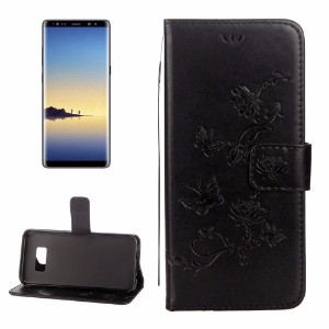 Black Lotus Butterfly Wallet Samsung Galaxy Note 8 Case
