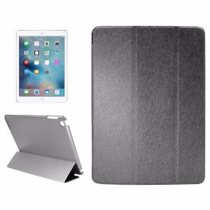 Black Silk Textured Smart Leather iPad 2017 9.7-inch Case