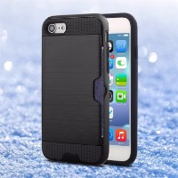 Black Strong Card Slot iPhone 7 Case