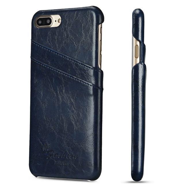Blue Deluxe Leather iPhone 8 PLUS & 7 PLUS Case