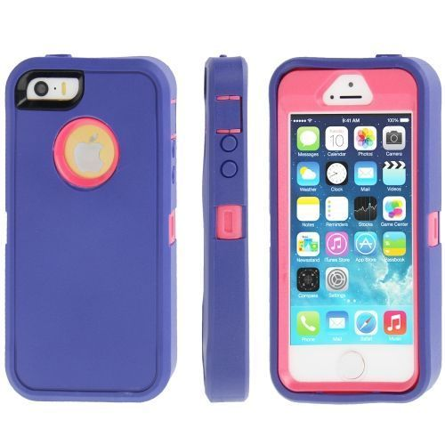 Blue Three Layer Protection iPhone 5, 5S & SE Case