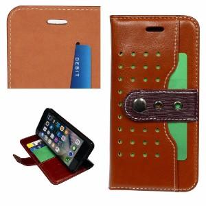 Brown Fierre Shann Buckle Leather Wallet iPhone 8 & 7 Case