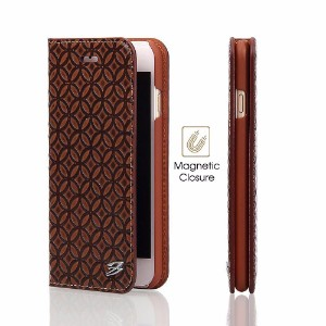 Brown Fierre Shann Copper Coin Leather Wallet iPhone 7 Case