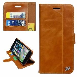 Brown Fierre Shann Genuine Cowhide Leather Wallet iPhone 7 PLUS Case