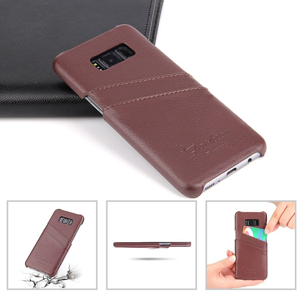 Brown Handmade Genuine Leather Fashion Samsung Galaxy S8 Case