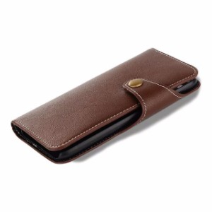 Brown Triangle Genuine Leather iPhone 7 Case