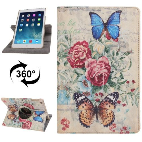 Butterfly Rotatable Leather iPad Air Case