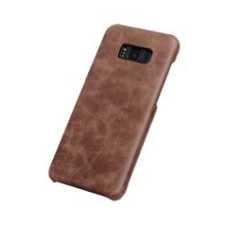 Coffee Elegant Genuine Leather Samsung Galaxy S8 PLUS Case