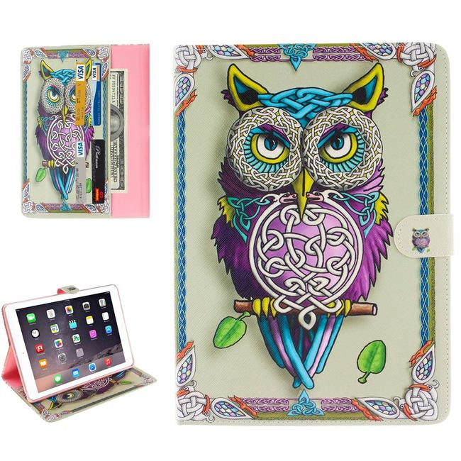 Colourful Owl Wallet Leather iPad Pro 9.7 Inch Cover