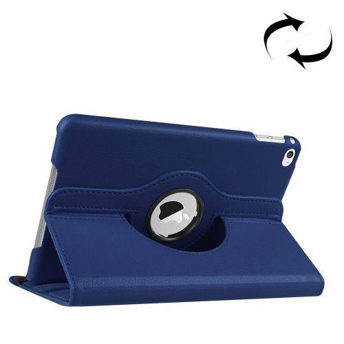 Dark Blue Leather iPad Mini 4 Case