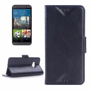 Deluxe Black Leather Wallet HTC One M9