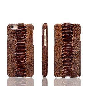 Fierre Shann Flip Amber Genuine Leather iPhone 6 & 6S Case