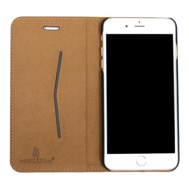 Fierre Shann Genuine Cow Leather Wallet iPhone 7 PLUS Case