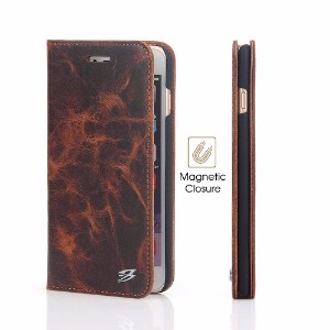 Fierre Shann Genuine Cow Leather Wallet iPhone 8 PLUS & 7 PLUS Case