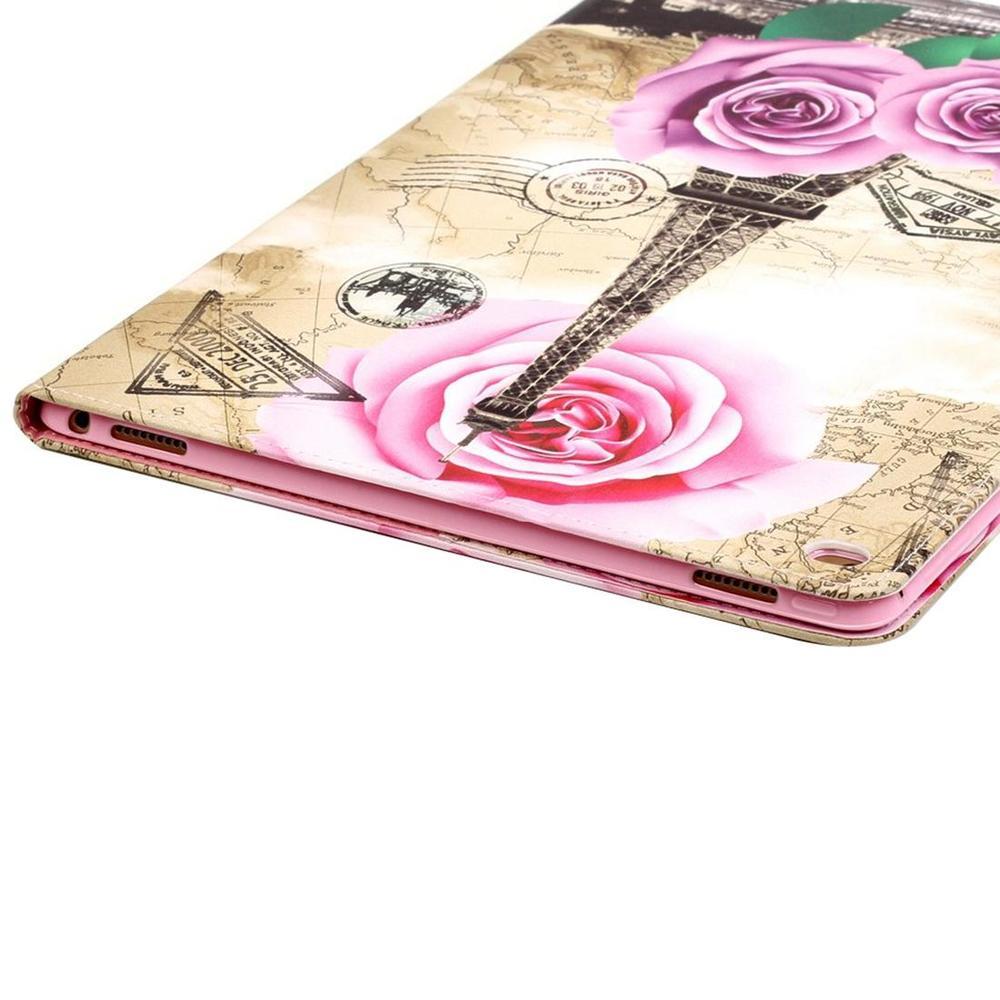 Flowery Eiffel Tower Leather iPad Pro 12.9 Inch Case