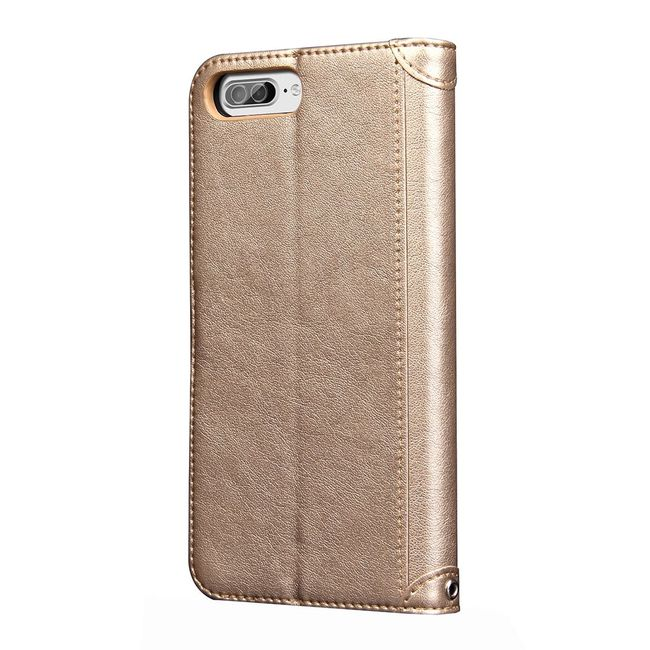 Gold Knead Texture Leather Wallet iPhone 7 PLUS Case