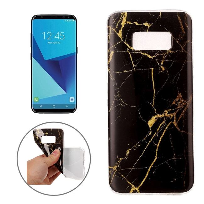 Black Marble Pattern Samsung Galaxy S8 Case