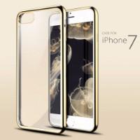Gold Shockproof Transparent iPhone 7 Case