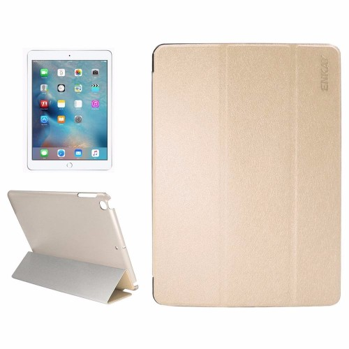 Gold Silk Textured Smart Leather iPad 2017 9.7-inch Case