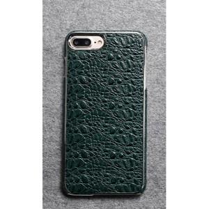 Green Fierre Shann Crocodile Electroplating Genuine Leather iPhone 8 PLUS & 7 PLUS Case
