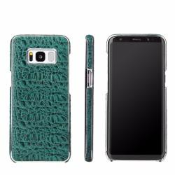 Green Fierre Shann Crocodile Electroplating Genuine Leather Samsung Galaxy S8 PLUS Case