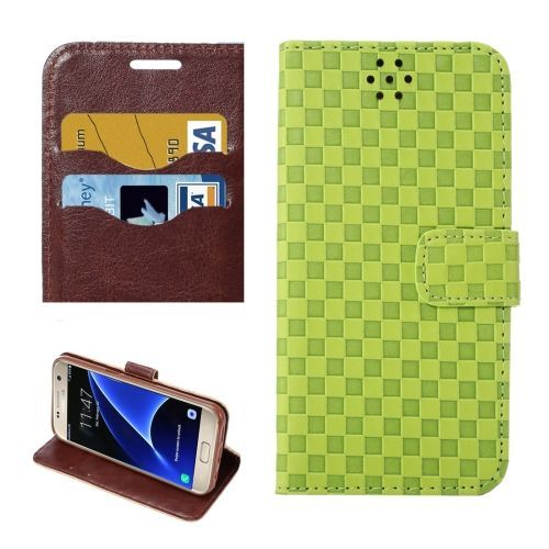 Green Grid Wallet Samsung Galaxy S7 Case