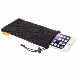 HAWEEL Black Nylon Mesh iPhone 8 PLUS & 7 PLUS, 6 PLUS & 6S PLUS Bag