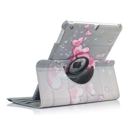 Hearts Rotatable Leather iPad Air Case