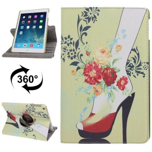 High Heels Rotatable Leather iPad Air Case