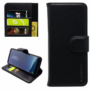 iCoverLover Black Real Top-grain Cow Leather Wallet Samsung Galaxy Note 8 Case