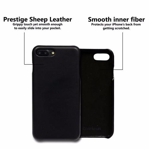 iCoverLover Black Slim Genuine Sheep Leather iPhone 7 PLUS Case