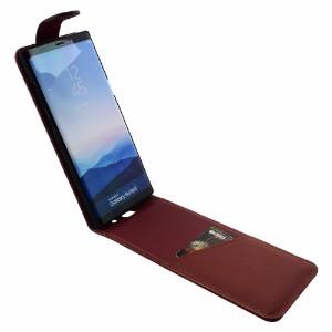 iCoverLover Reddish Brown Vertical Flip Genuine Leather Samsung Galaxy Note 8 Case