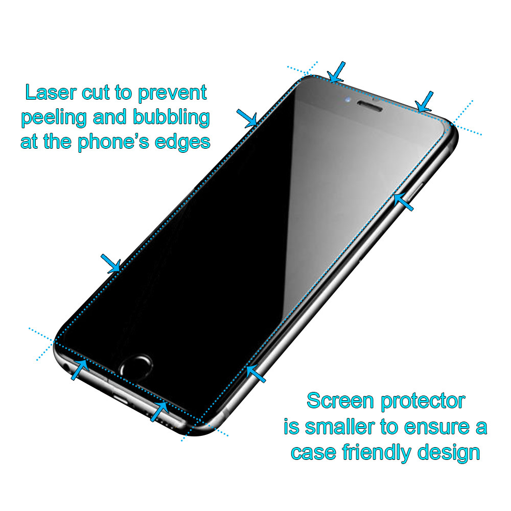 iCoverLover Unbreakable iPhone 8, 7 (4.7inch Screen) Hybrid Glass Screen Protector