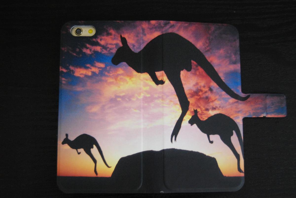 Kangaroo Leather Wallet iPhone 4, 5/5S, 6/6S Case